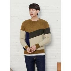 GERIO - Round-Neck Color-Block Sweater