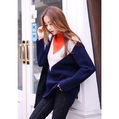 DEEPNY - Color-Block Long Sweater