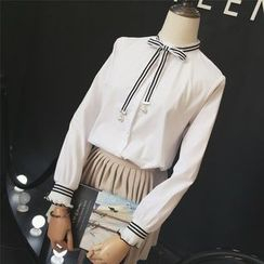 RUI - Bow Long-Sleeve Blouse