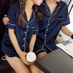 Bonne Nuit - Couple Matching Short-Sleeve Pajama Set