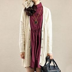 Yammi - Cable-Knit Cardigan