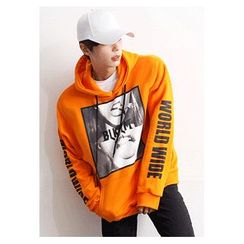 HOTBOOM - Printed Hooded Pullover