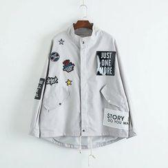 TOJI - Appliqué Button Jacket
