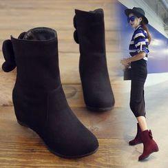 佳美 - 花形內增高短靴