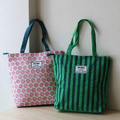 Ms Bean - Patterned Canvas Shopper Bag