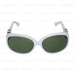 Glam-it! - Lady Sunglasses (White Frames, Silver, Logo, Green G15 Lens)