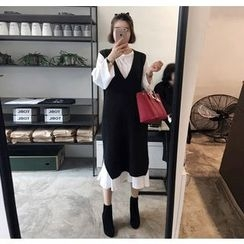 Miamasvin - Sleeveless Wool Blend Knit Long Dress