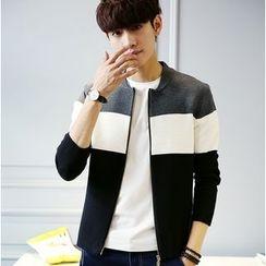 Izme - Color Block Zip Jacket