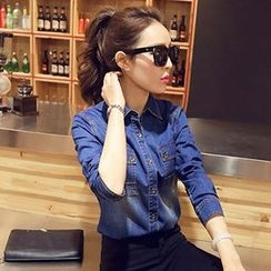 Romantica - Long-Sleeve Denim Shirt