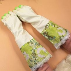 Evora - Floral Print Gloves