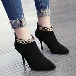 Wello - Chain High Heel Ankle Boots