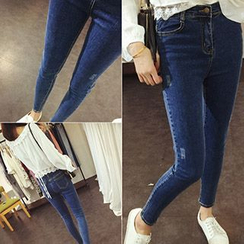 Phyllis - Distressed Skinny Jeans