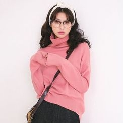 MIKPO - Mock-neck Knit Top