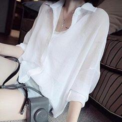 lilygirl - Long Sleeved Chiffon Blouse