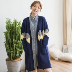 Angel Love - Argyle Long Cardigan