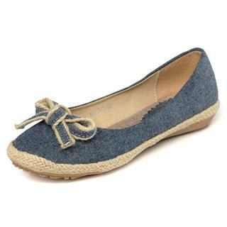 yeswalker - Bow-Accent Denim Flats