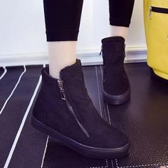 Solejoy - Fleece-Lined Ankle Boots