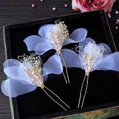 First Impression - Flower Wedding Hair Pin