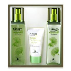 Charm Zone - Ginkgo Natural Skin Toner 150ml + Emulsion 150ml