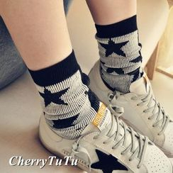 CherryTuTu - Star Printed Socks