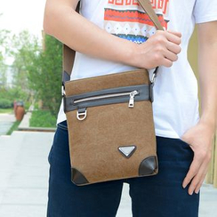 Filio - Faux Leather Canvas Shoulder Bag