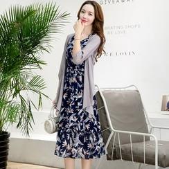 NINETTE - 套装:开衫 + 印花连衣裙