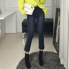 Seoul Fashion - Washed Boot-Cut Jeans