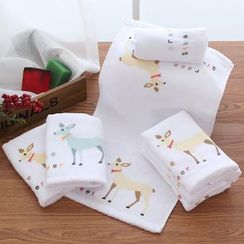 Lazy Corner - Deer Print Cotton Towel
