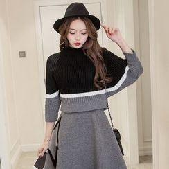 Coolvibe - Set: Knit Top + Skirt