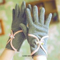 Lose Show - Cashmere Bowed Gloves