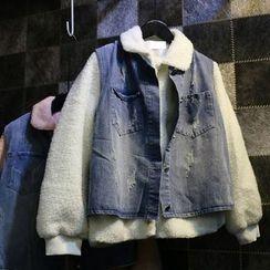 Jade Rabbit - Set: Fleece Jacket + Denim Vest