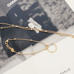 DANI LOVE - Set: Circle-Pendent Necklace + Bracelet