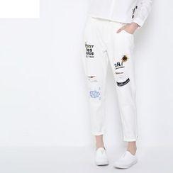 MUKOKO - Embroidered Harem Jeans