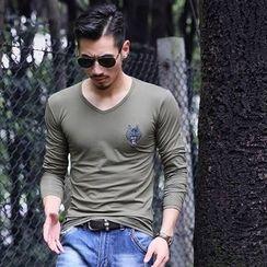 Golden Apple - Long-Sleeve V-Neck T-Shirt