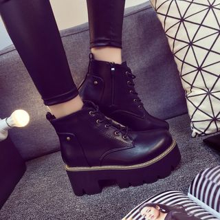 buy southbay shoes lace up platform boots yesstyle
