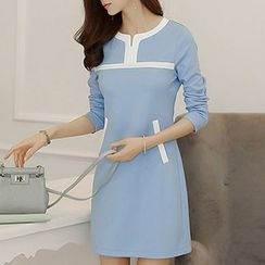 Q.C.T - Panel Long-Sleeve Dress