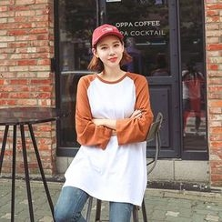 Seoul Fashion - Raglan-Sleeve T-Shirt