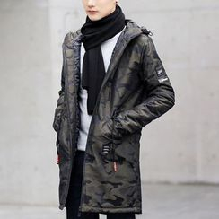Really Point - Camo Hooded Down Coat