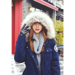REDOPIN - Detachable Faux-Fur Hooded Coat