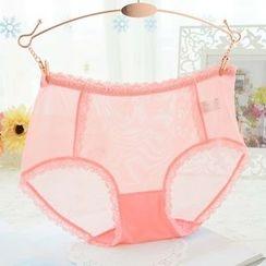 QIANLEE - Lace-Panel Panties