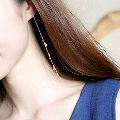 Love Generation - Sterling Silver Rhinestone Earrings