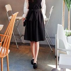 Cherryville - Tie-Waist Flare Skirt