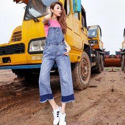 Hola - Washed Distressed Wide-Leg Jumper Jeans