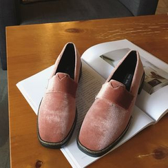 Anran - Square Toe Loafers