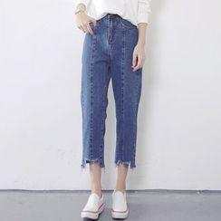 Tiny Times - 短款牛仔褲