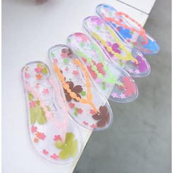 59 Seconds - Sakura Print Jelly Flip-Flops