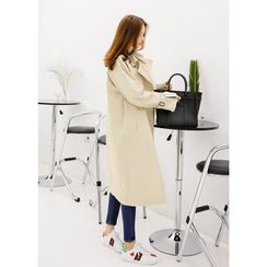 J-ANN - Dual-Breasted Trench Jacket