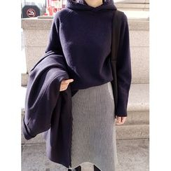 maybe-baby - Hooded Knit Top