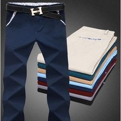 Kieran - Plain Straight Fit Pants