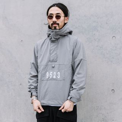 YIDESIMPLE - Hooded Pullover Jacket